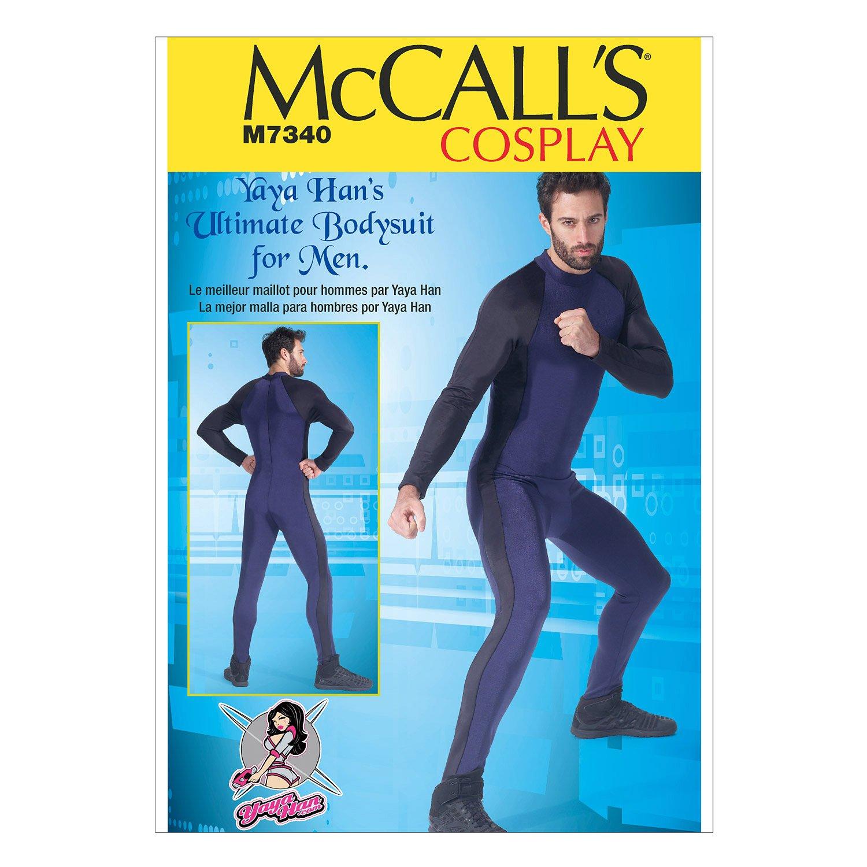 McCall's Patterns M7340 Men's Zippered Body Suit by Yaya Han, MWW (38-40-42-44) McCall Pattern Company M7340MWW