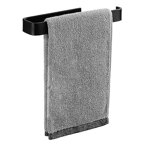 HKJhk Perchero Libre Negro Colgando Toallero Baño Rack Baño Barra de Toalla Rack Espacio Aluminio Cocina