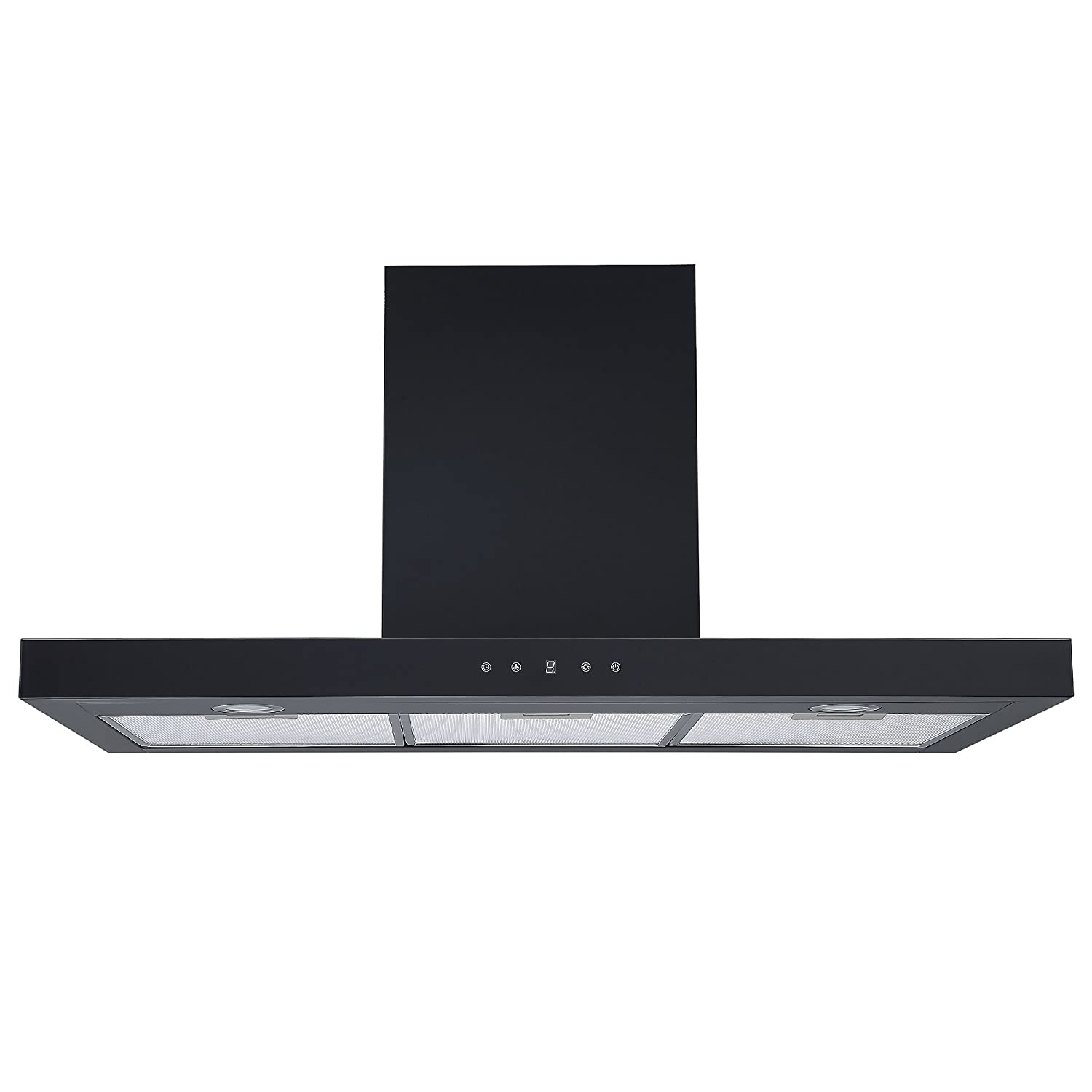 Cookology LINT901BK Black Linear Cooker Hood, Touch Control 90cm Extractor Fan [Energy Class C]