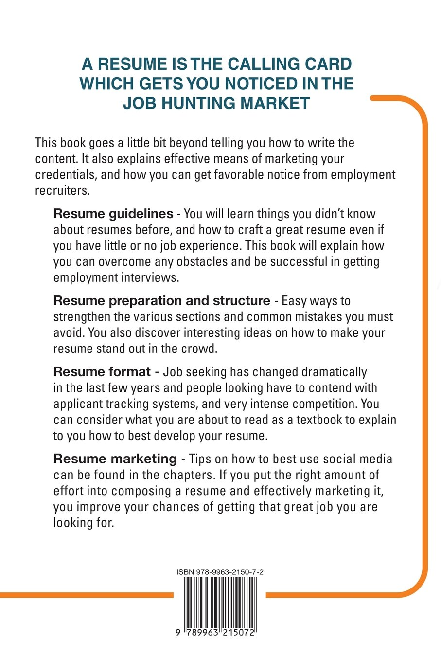 How to write a resume and market it online gregory goodrick how to write a resume and market it online gregory goodrick 9789963215072 amazon books ccuart Images