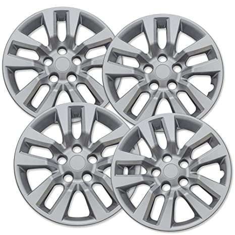 16 inch Hubcaps Best for 2013-2017 Nissan Altima - (Set of 4) Wheel Covers 16in Hub Caps Silver Rim Cover - Car Accessories for 16 inch Wheels - Snap On ...