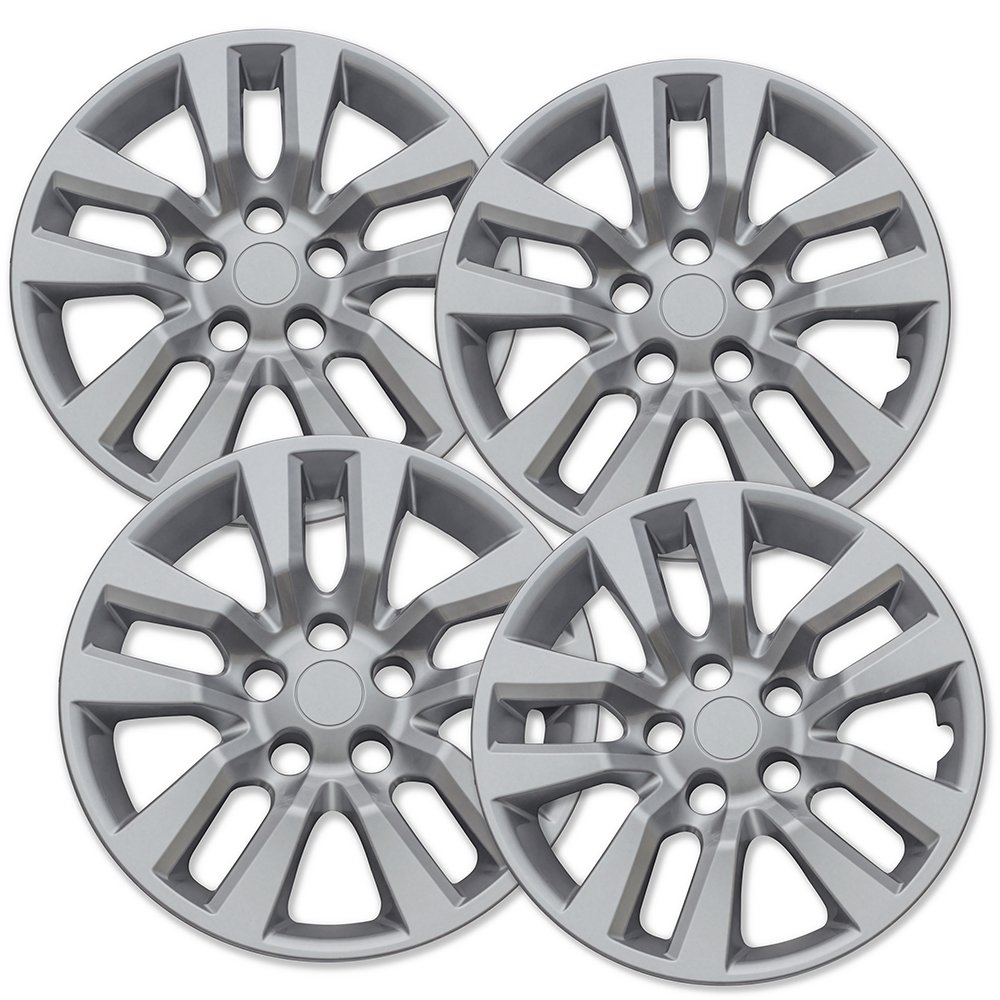 16 inch Hubcaps Best for 2013-2017 Nissan Altima - (Set of 4) Wheel Covers 16in Hub Caps Silver Rim Cover - Car Accessories for 16 inch Wheels - Snap On Hubcap, Auto Tire Replacement Exterior Cap)