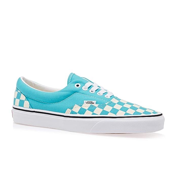 Vans Era Sneakers Scuba Blue-Weiß Kariert/Scuba Blue Herren Damen Unisex Größe EU 39