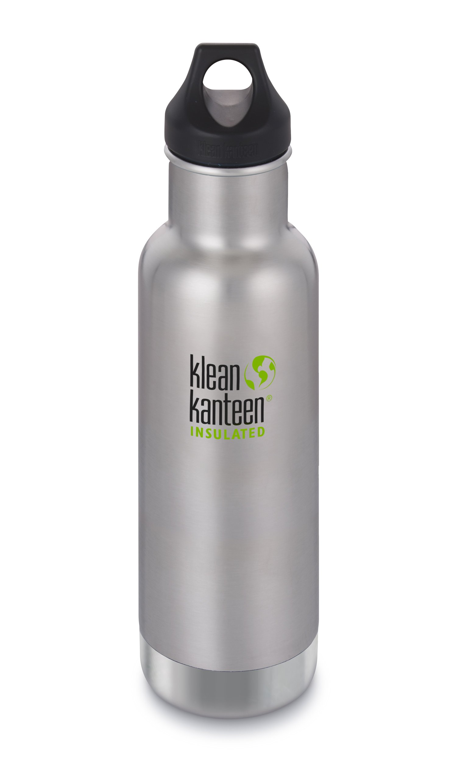 Klean Kanteen Classic Insulated Stainless Steel Water Bottle with Leak Proof Loop Cap - 20oz - Brushed Stainless