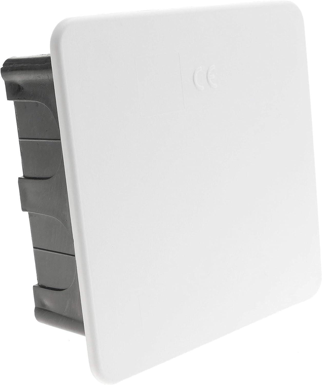 BeMatik - Caja empotrada de registro cuadrada 100x100x48mm para paredes huecas (AE055): Amazon.es: Bricolaje y herramientas