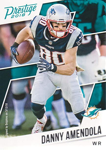 finest selection 612d9 497d7 2018 Prestige Football #46 Danny Amendola Miami Dolphins at ...