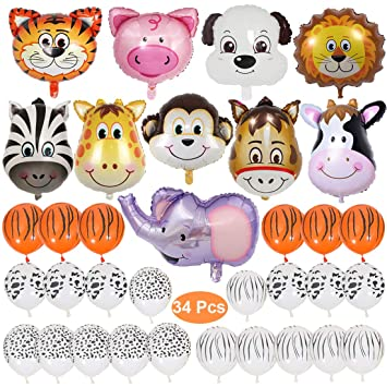 Joyfeels Store Safari Jungle Zoo Juego de Globos de ...
