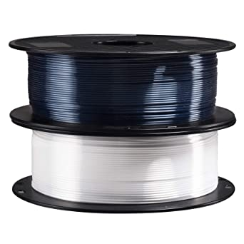 1.75mm 3D Printing Material 1Kg Each Spool Total 2Kg in One Box with Extra Gift Nozzle Clean Tool 3D Print Tool by TTYT3D Silk Shiny Red Green PLA 3D Printer Filament 2 in 1 Bundle