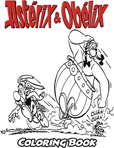 Asterix and Obelix Coloring Book: Coloring Book for Kids and Adults, Activity Book with Fun, Easy, and Relaxing Coloring Pages
