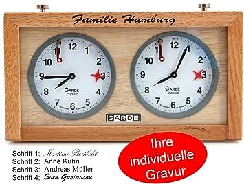 Ludomax Garde Schach Einzeiliger Gravur Holzgehäuse Mit Uhr Classic 08OXNwPnk