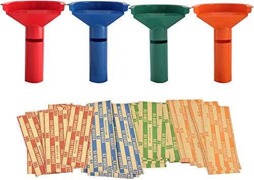Nadex Easy Wrap Coin Sorting Tubes with 252 Coin Roll Wrappers Included ...