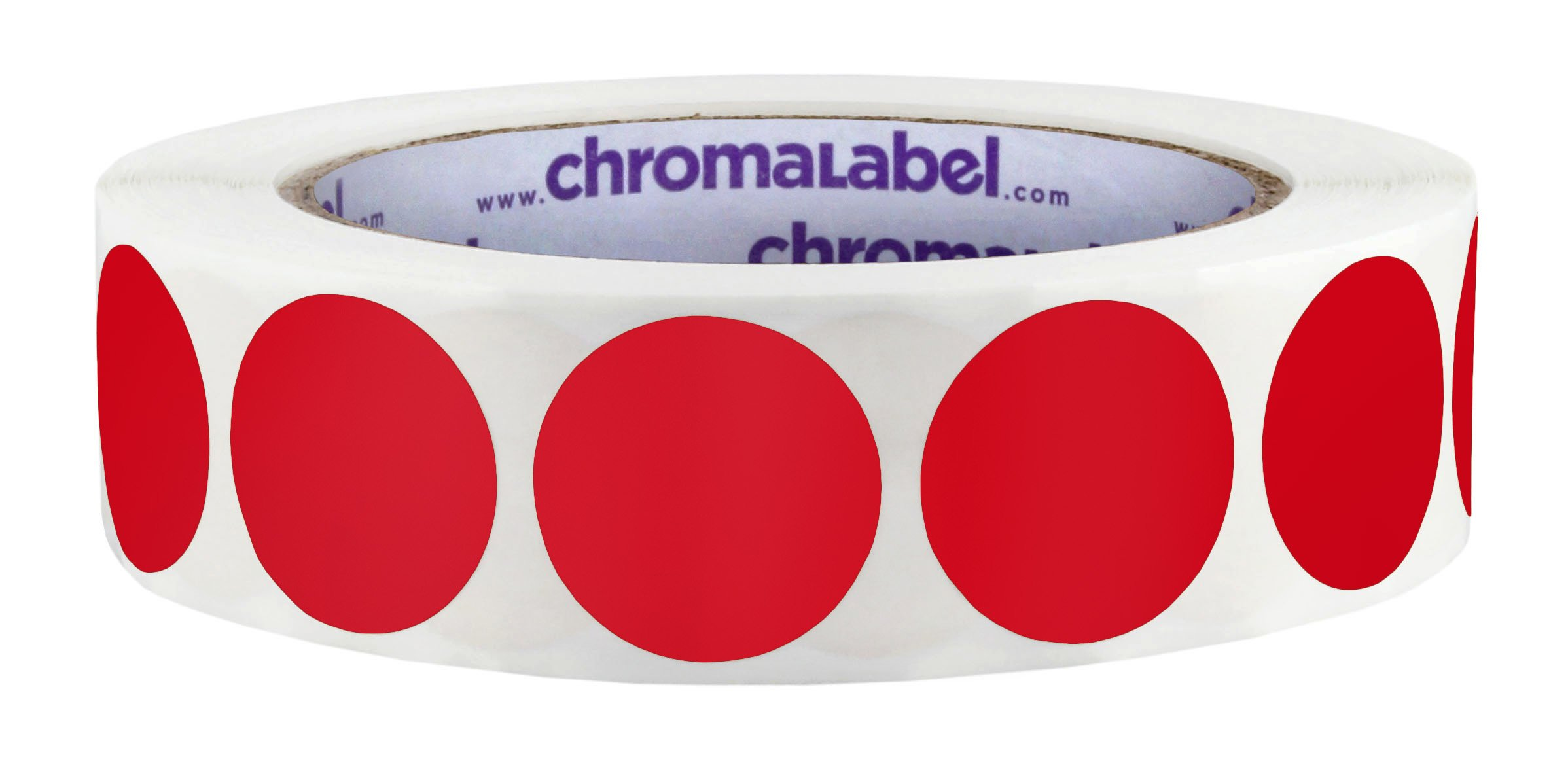 ChromaLabel 1 inch Color-Code Dot Labels | 1,000/Roll (Red)