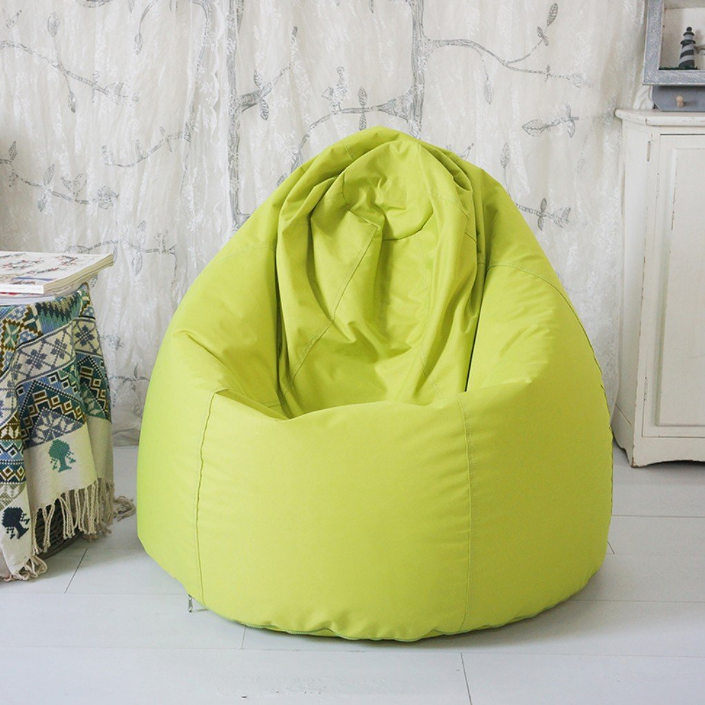 quwei Designer silla puf – puf de interior/exterior puf Bean Bag Sofa DIY sofá para niños verde verde Talla:Pouf poire complet