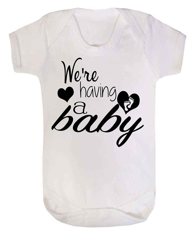 Annonce de grossesse Taille 0 /à 3 mois Blanc Body blanc /« We/'re Having a Baby /»
