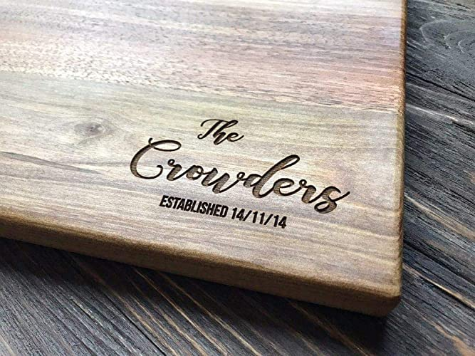 Personalized Cutting Board Custom Couple Family Oak Home Sweet Home Wood Engraved Wedding Gift Anniversary Housewarming Birthday Bridal Shower Christmas ...