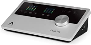 Apogee Quartet - USB Audio Interface - 4 Inputs with World-Class Apogee Mic Preamps and Professional Line Level Input, Made In USA