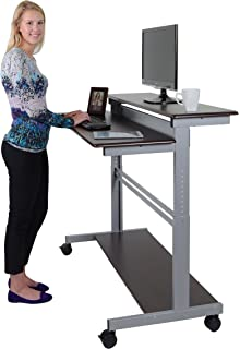 Amazoncom 40 Black Shelves Mobile Ergonomic Stand Up Desk