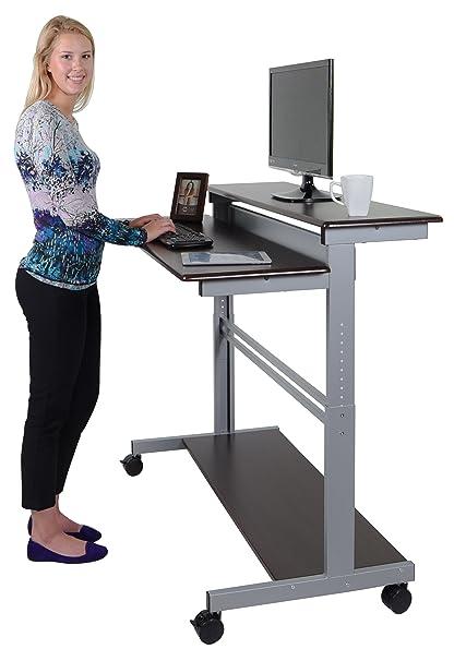 Amazoncom 48 Shelves Mobile Ergonomic Stand Up Desk Computer