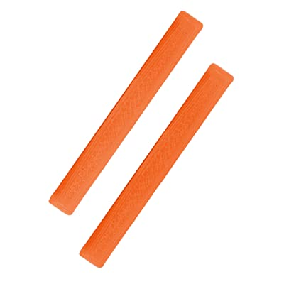 Teak Tuning Gem Edition Adhesive Board Rails, Orange Calcite Colorway - Set of 2 Fingerboard Rails - Set of 2 Rails - Designed & Made in The USA: Toys & Games