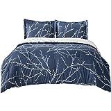 Bedsure Comforter Duvet Sets Down Alternative Sets Twin Size - Reversible Microfiber (1 Comforter 68x88 inches + 1 Pillow Sha