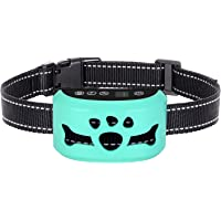 Dog No Bark Collar with Smart Detection Vibration and Harmless Shock- Rechargeable Anti Barking Device for Small Medium and Large Dog (Tiffany Blue)