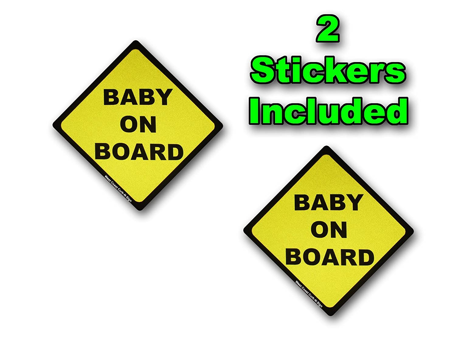 2 Stickers Included , Baby on Board Highly反射デカール B06XGS21B7 14936