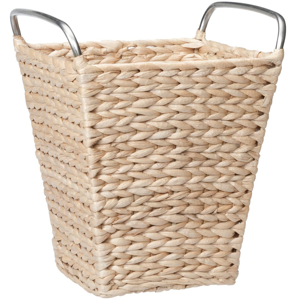 Creative Bath Products Metro Collection Waste Basket, Natural