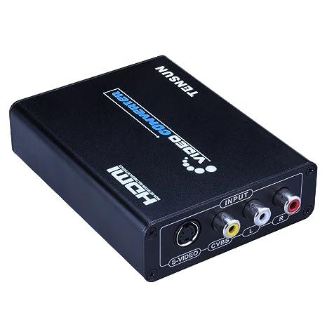 amazon com tensun 3rca av cvbs composite s video r l audio to rh amazon com