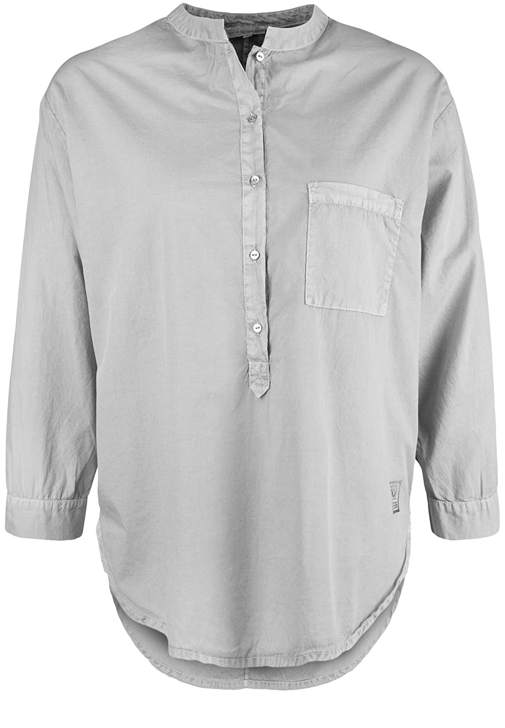 Better Rich Women's Plain Mao 3/4 Sleeve Blouse Small