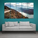 Inephos Multiple Frames Beautiful Natural Scenery Wall Painting (150cm X 76cm)