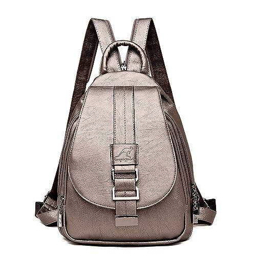Amazon.com: 2018 Women Leather Backpacks Vintage Female Shoulder Bag Travel Ladies Backpack Mochilas School Bags For Girls Preppy,bronze: Shoes