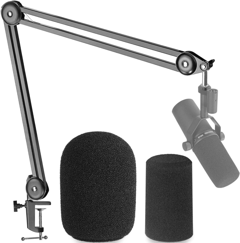 Shure SM7B Vocal Dynamic Microphone Cardioid /& RODE PSA1 Swivel Mount Studio Microphone Boom Arm