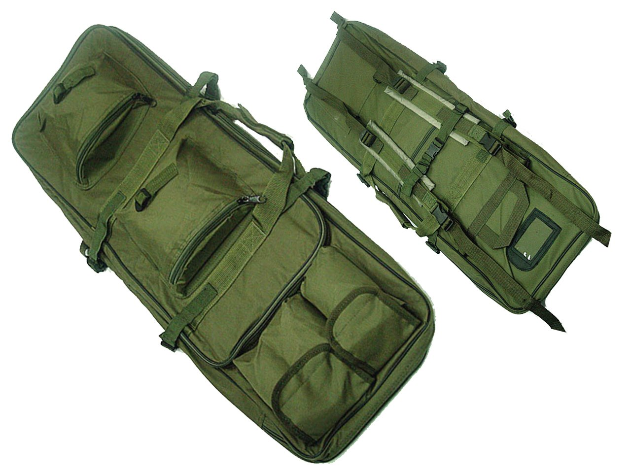 Tactical 85 cm rifle francotirador Pack doble de nailon bolsa de funda de transporte pistola Airsoft caza od