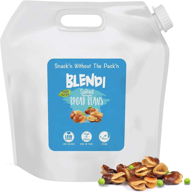 Blendi Snacks Saludables Bajos en Calorías - Aperitivos Sin Gluten, Altos en Proteína Vegana y Fibra - Habas y Guisantes Tostados, Salados con Cáscara ...