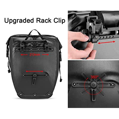 ROCKBROS Bike Pannier Waterproof Large Capacity Bike Bag Rear Rack Bag 27L 1Pcs