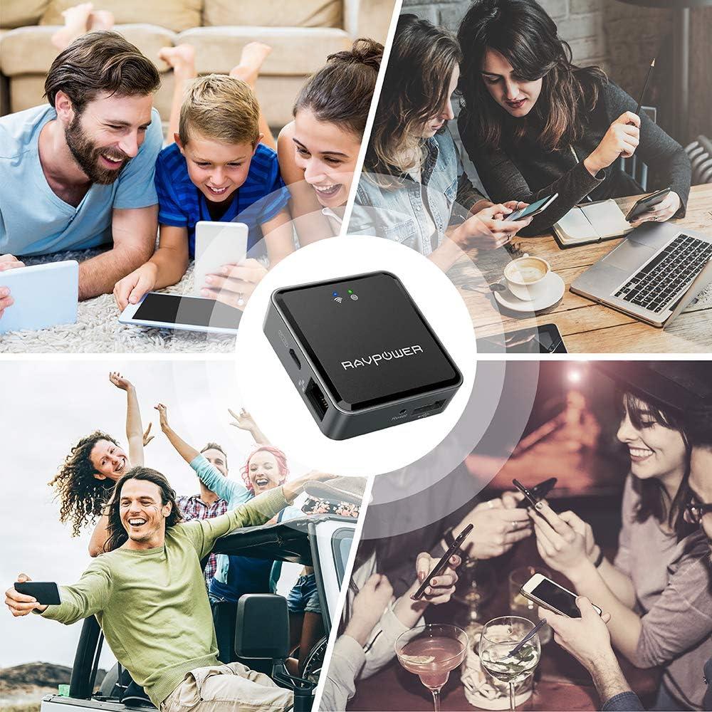 WiFi Bridge//Range Extender//Access Point//Client Modes HooToo TripMate Nano Update Version Hotspot WiFi Devices RAVPower Filehub DLNA NAS Sharing Media Streamer Travel Router N300