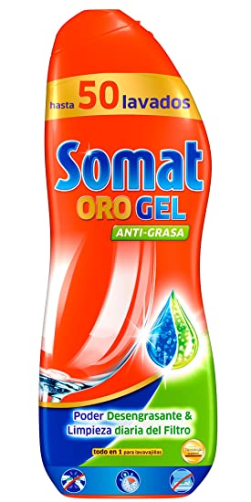 Somat Gel Antigrasa para Lavavajillas - 50 Dosis: Amazon.es ...