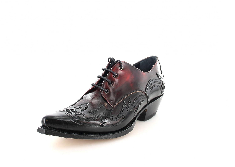 Sendra Boots Western Zapatos 10066 con cordones 47|Negro Rojo