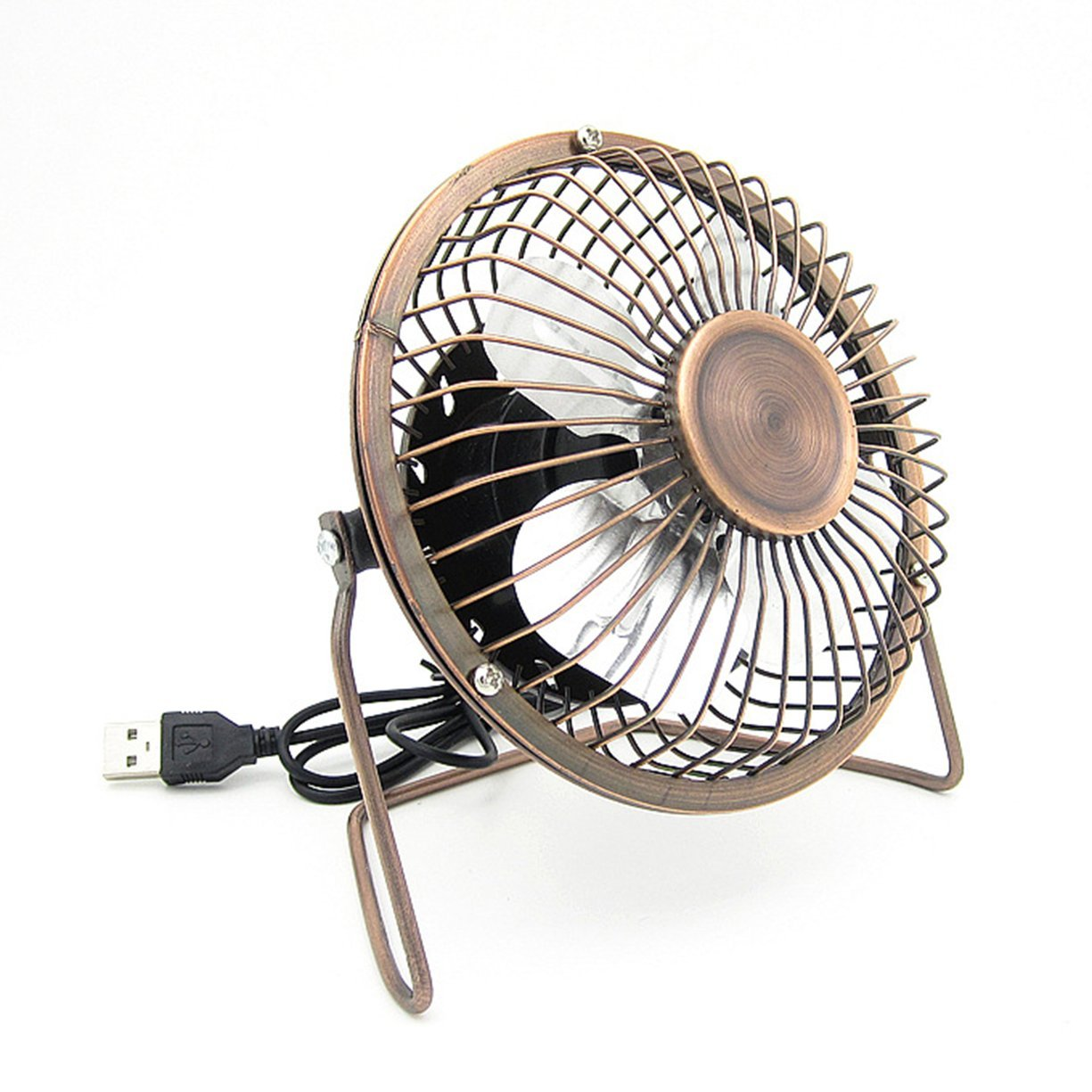 4 Inch USB Fan,Mini Desktop Fan,Silent Office USB Table Fan with 360 Degree Rotation,USB Clip and Desk Personal Fan,Metal Blades Cooling Fan with Adjustable Angle for Laptop Notebook Tablet PC