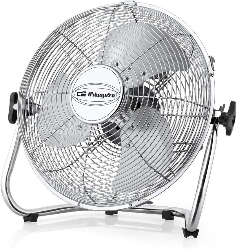 Orbegozo PW 1332 Ventilador industrial Power Fan, 3 velocidadesaspas metálicas, inclinación regulable, asa de transporte, rejilla de seguridad, 45 W de potencia