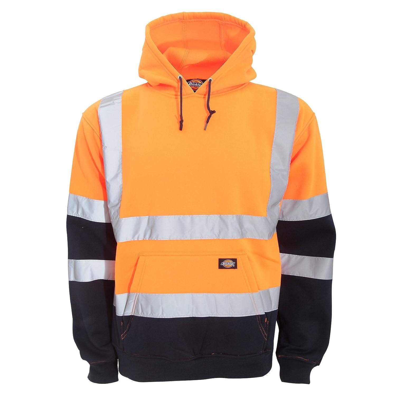 Dickies Mens Hi Vis Two Tone Hooded Sweatshirt