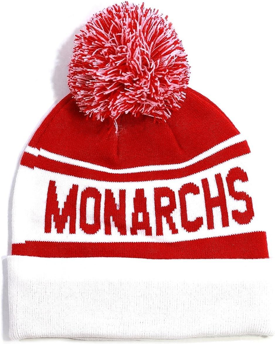 Red//White Big Boy Kansas City Monarchs Mens Beanie with Ball
