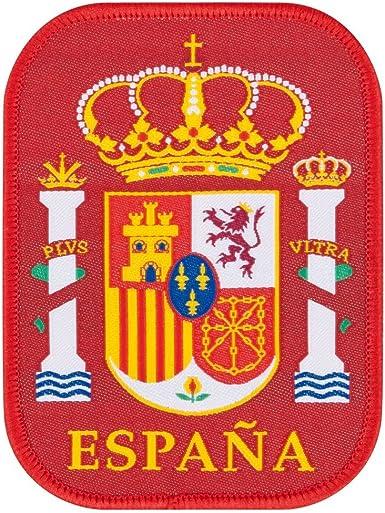 España bordado Logo 90 mm x 70 mm eine Gr÷ e rojo: Amazon.es: Hogar