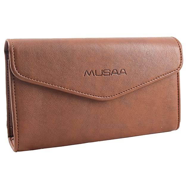 85a58285a9a8 Amazon.com: MUSAA Casual PU Leather Clutch Wallet Purses With Multi ...