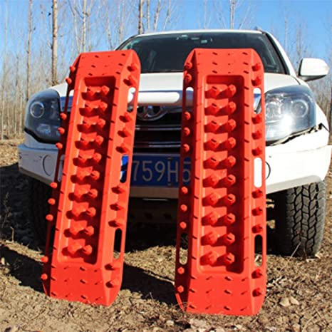 Snow Mud Sand Traction Device Car Tire Anti-Skid Chain Red Traction Mat