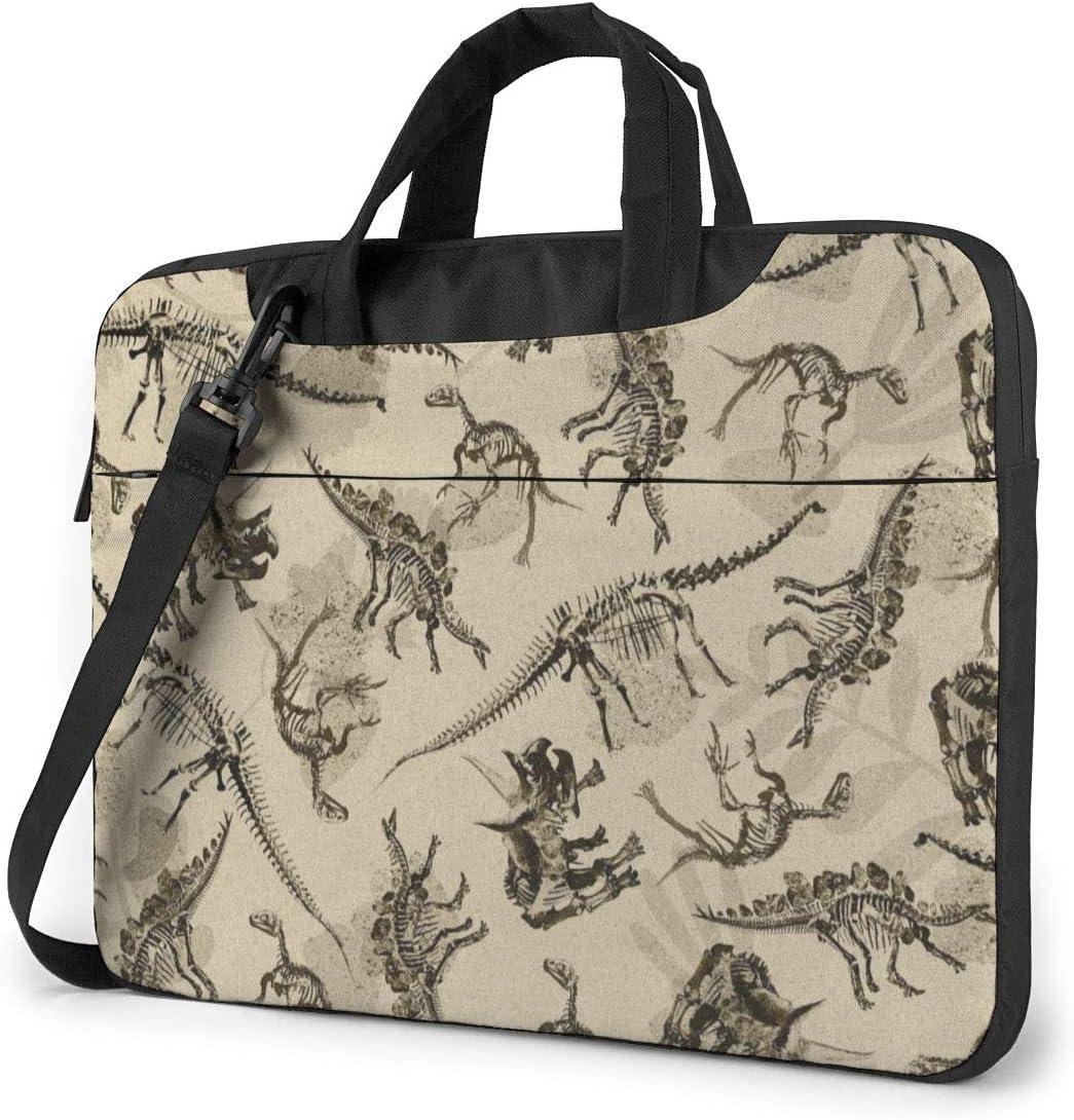 Yuotry Neoprene Laptop Sleeve Case Dinosaurs Skeleton Portable Laptop Bag Business Laptop Shoulder Messenger Bag Protective Bag 15.6 Inch