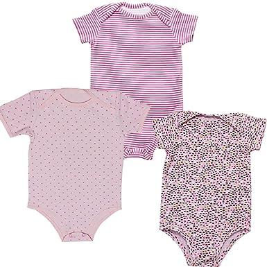 189f6ded5 Kadambaby Set of 3 Bodysuit for Baby, Pink Cotton Bodysuit for Newborn, Bodysuit  Bodysuit