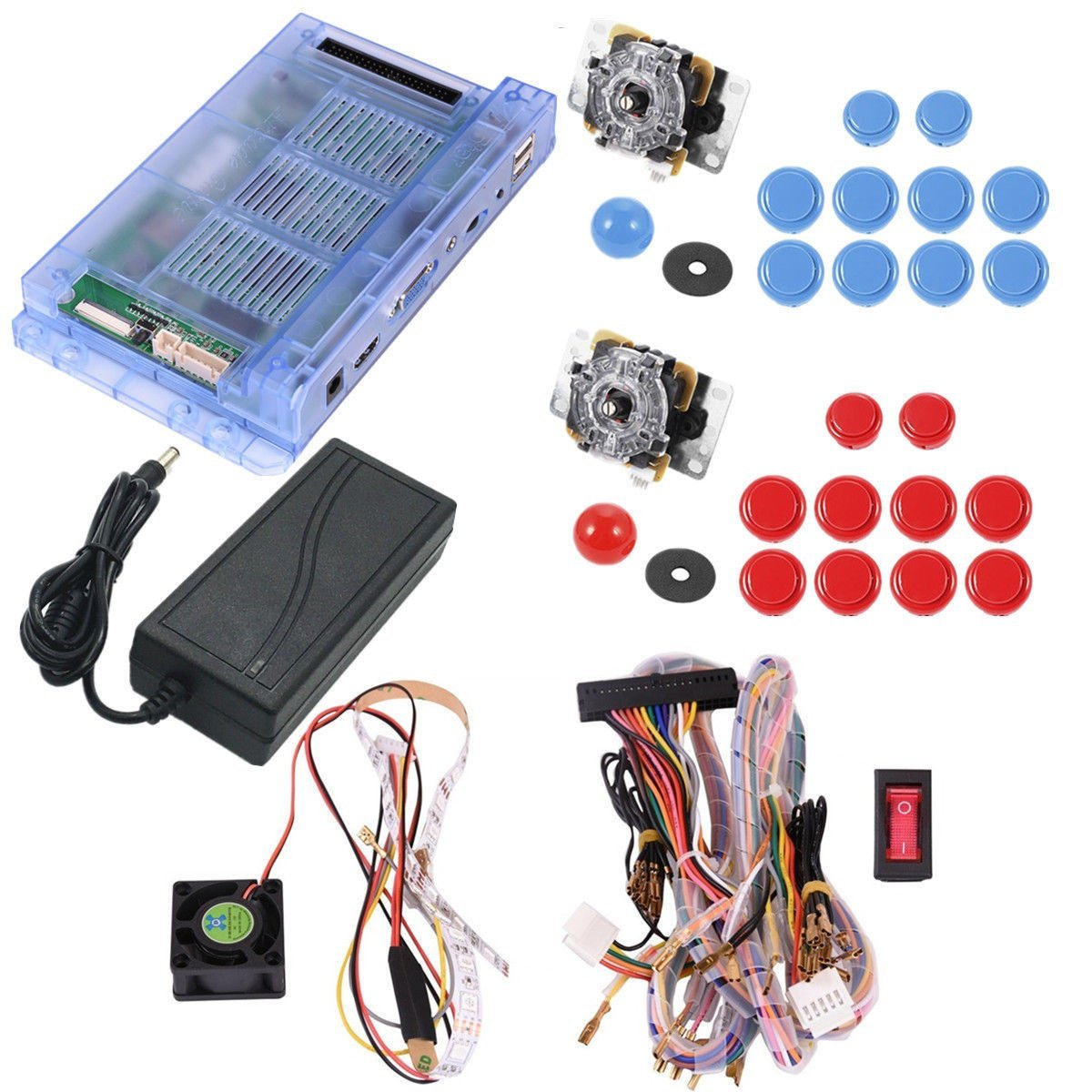 Freelance Shop Electronics 1299 in 1 Double Joystick Dual Player Push Button Game Board for PandoraBox 5S G