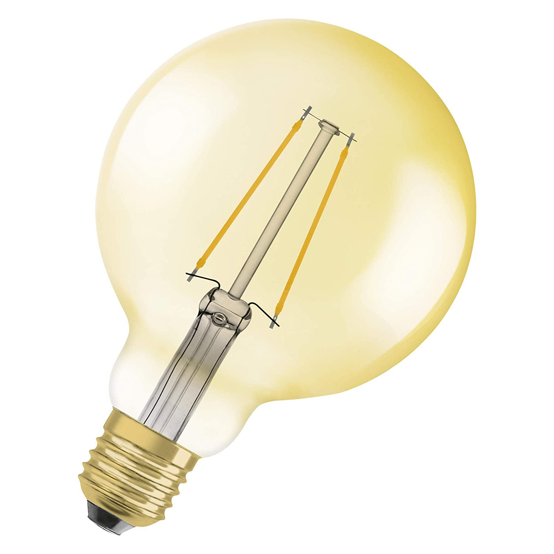 Warmwei/ß Sockel: E27 Filament Gold OSRAM LED Vintage Edition 1906 Dimmbar