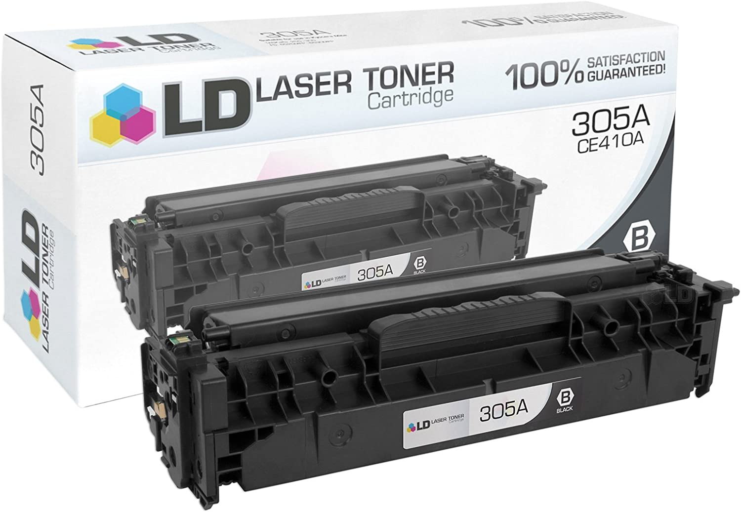 LD Remanufactured Toner Cartridge Replacement for HP 305A CE410A (Black)
